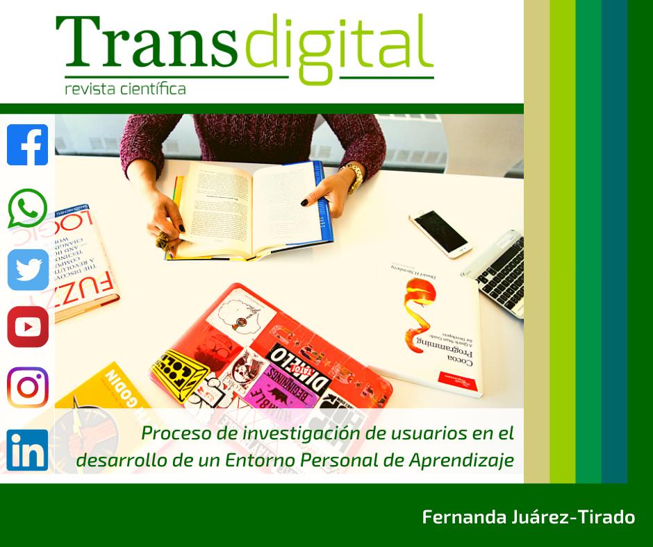Proceso de investigación de usuarios en el desarrollo de un Entorno Personal de Aprendizaje